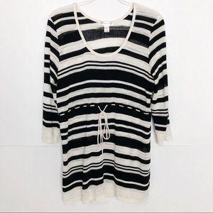 EUC Motherhood Maternity striped knit dress